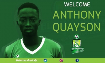 Anthony Quayson leaves Hearts of Oak for Elmina Sharks