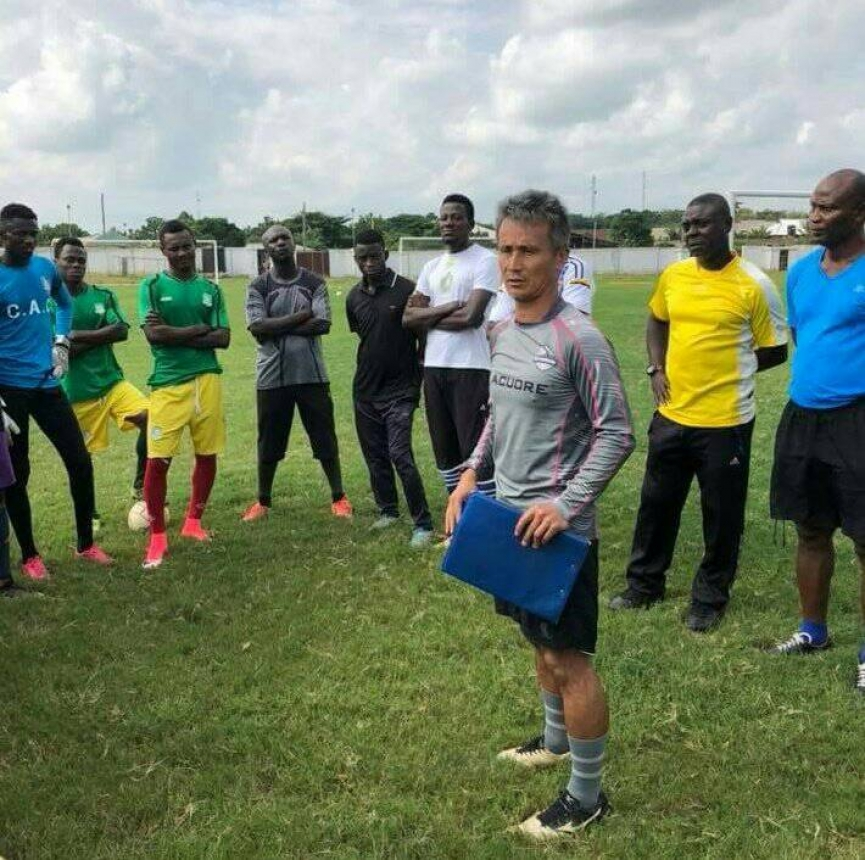 PHOTO: Kenichi Yatsuhashi starts work at Aduana Stars