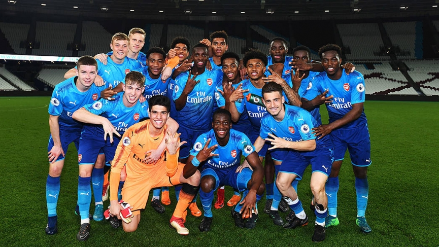 Ghanaian duo Nketiah and Osei-Tutu clinch English Youth League title with Arsenal