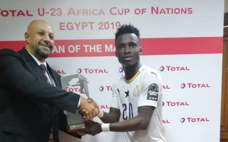 U23 AFCON: Classy winger Evans Mensah named Man of the match as Ghana draw with Cameroon