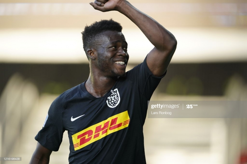 Ghanaian kid Kamaldeen Sulemana scores his debut goal for FC Nordsjaelland on Danish SuperLiga return