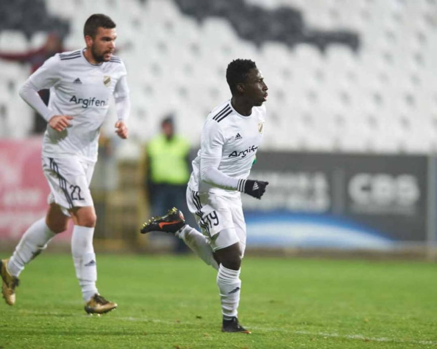 Majestic Samuel Owusu scores his 5th goal of the season for FK Cukaricki