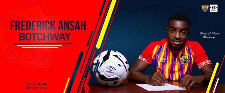 OFFICIAL: Hearts of Oak sign Frederick Ansah Botchway