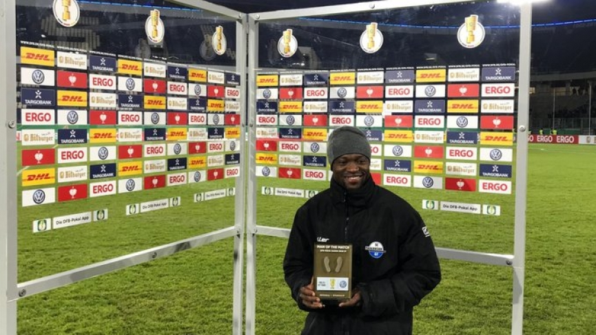 In-form Bernard Tekpetey wins Man of the match award in German DFB Pokal