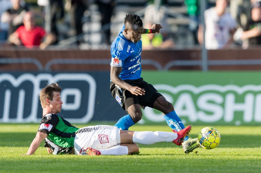 Thomas Boakye provides assist in Halmstad BK away win