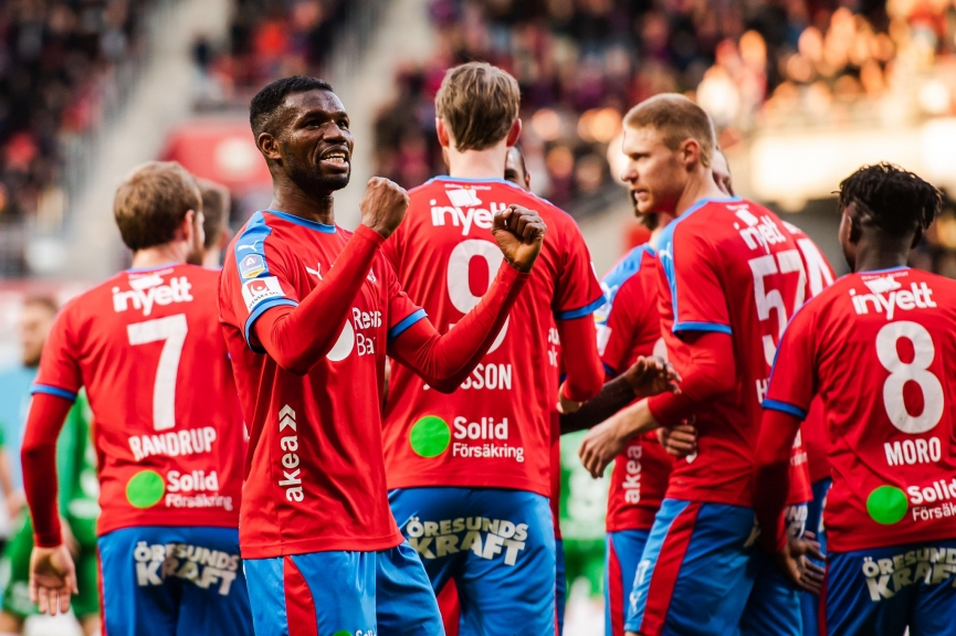 'Evergreen' Mohammed Abubakari scores his first league goal for Helsingborg IF