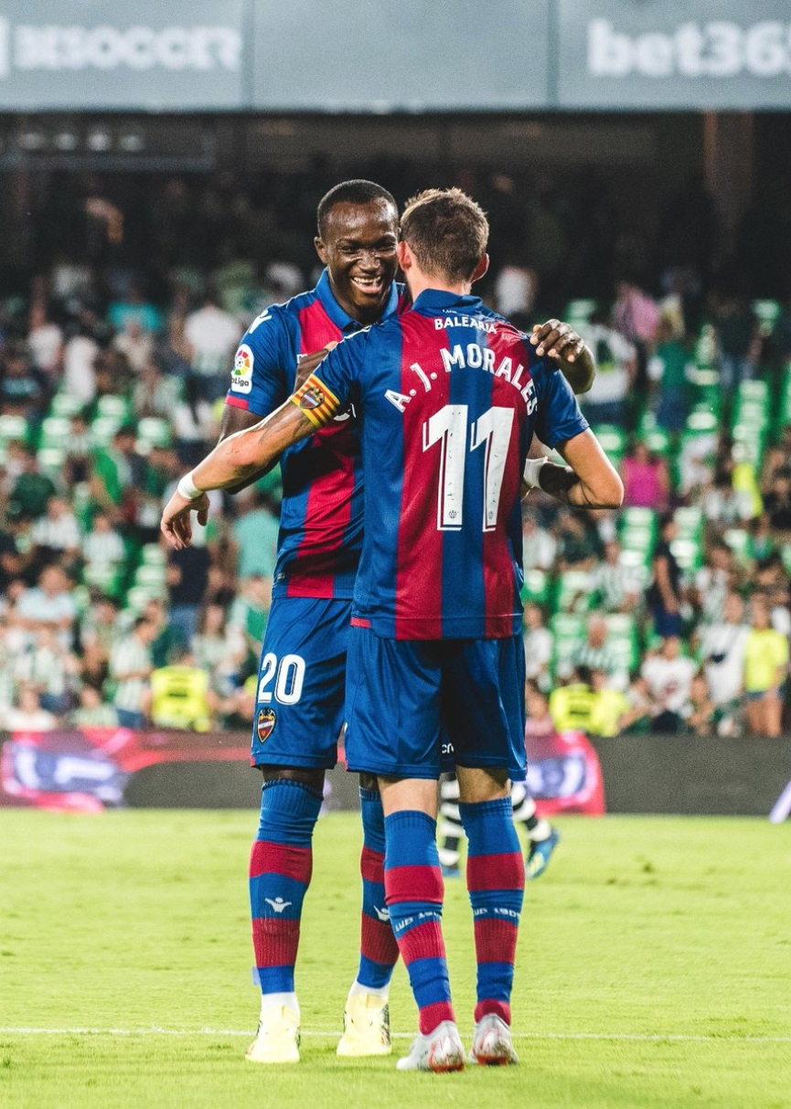 Raphael Dwamena provides assist on La Liga debut for Levante