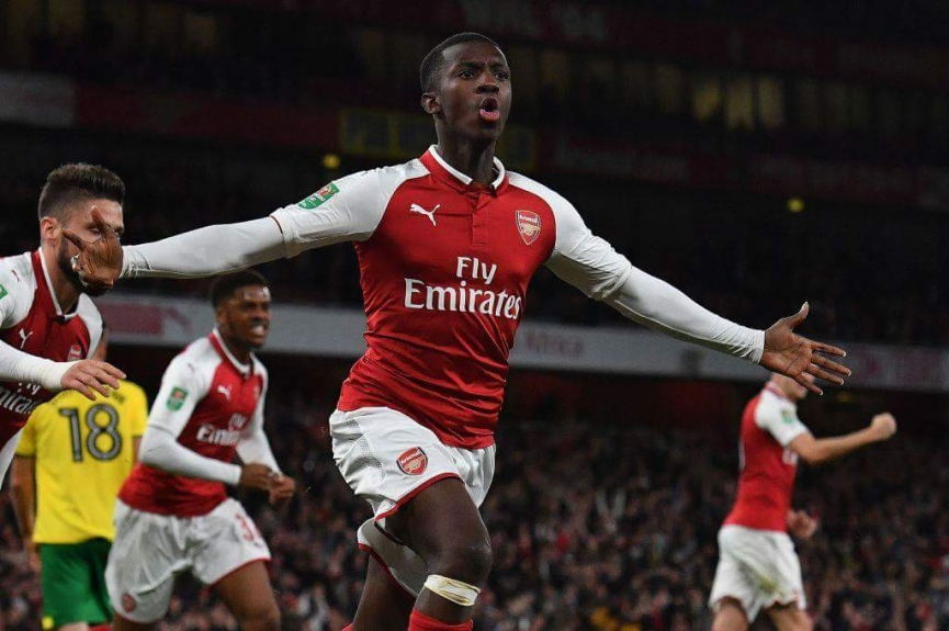 Ghanaian youngster Eddie Nketiah scores BRACE to save Arsenal from defeat in EFL Cup