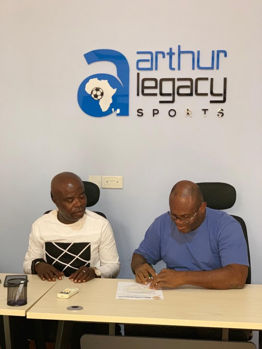 Arthur Legacy Sports sign agency agreement with colts club Mighty Cosmos