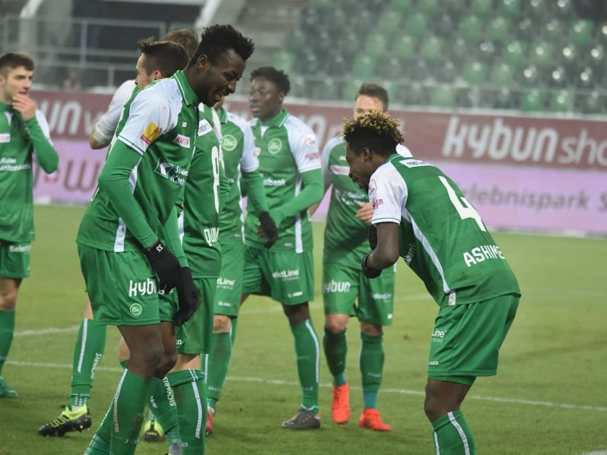 Majeed Ashimeru and Musah Nuhu score in FC St. Gallen big win over Young Boys