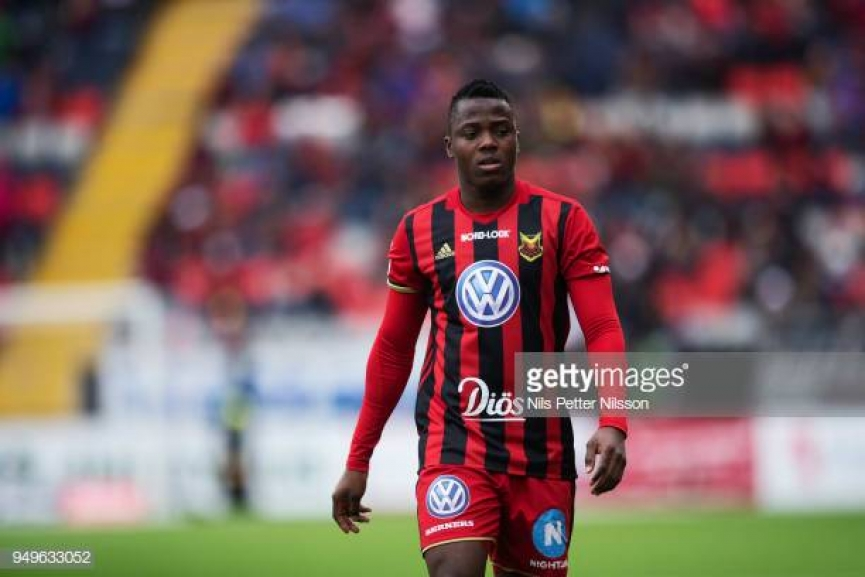 Patrick Kpozo came off the bench to score his first goal of the season for Oestersunds FK