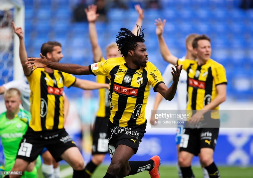 Kwame Kizito provides assist in BK Hacken away win